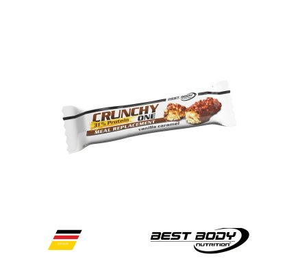 Best Body Nutrition Meal Replacement Crunchy One Caramel Vanilla Malta |  Bars Malta | Sports Malta